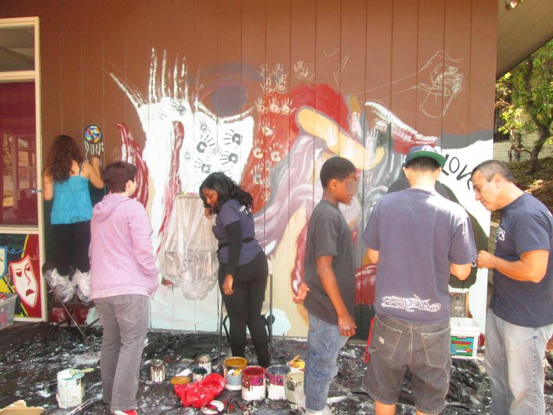 Create A Mural Now workshop at Vista Del Mar