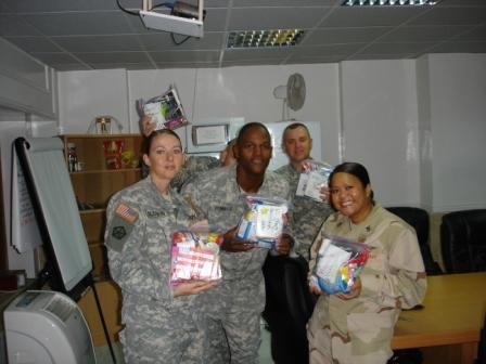 Troops receive care packages