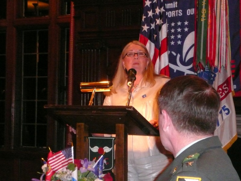 Truhe addresses General Hagenbeck, West Pointers, and guests at Baltusrol Golf Club