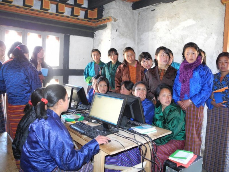 READ computer center in Bhutan