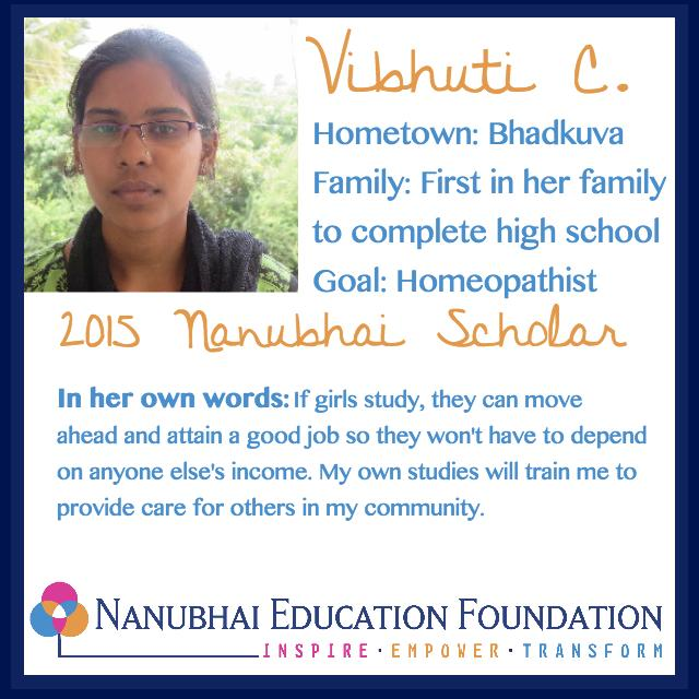 Vibhuti plans to give free healthcare to the poor in her village