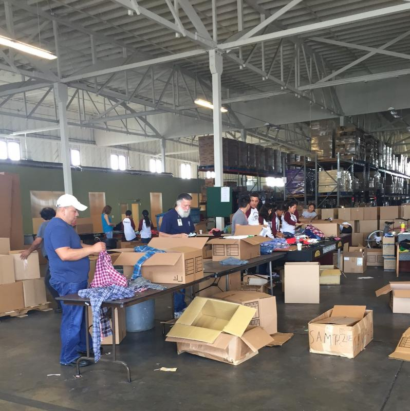 Volunteers are always needed at our warehouse in Bell to help sort clothes!