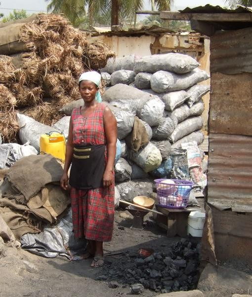 World Class loan client-charcoal vendor
