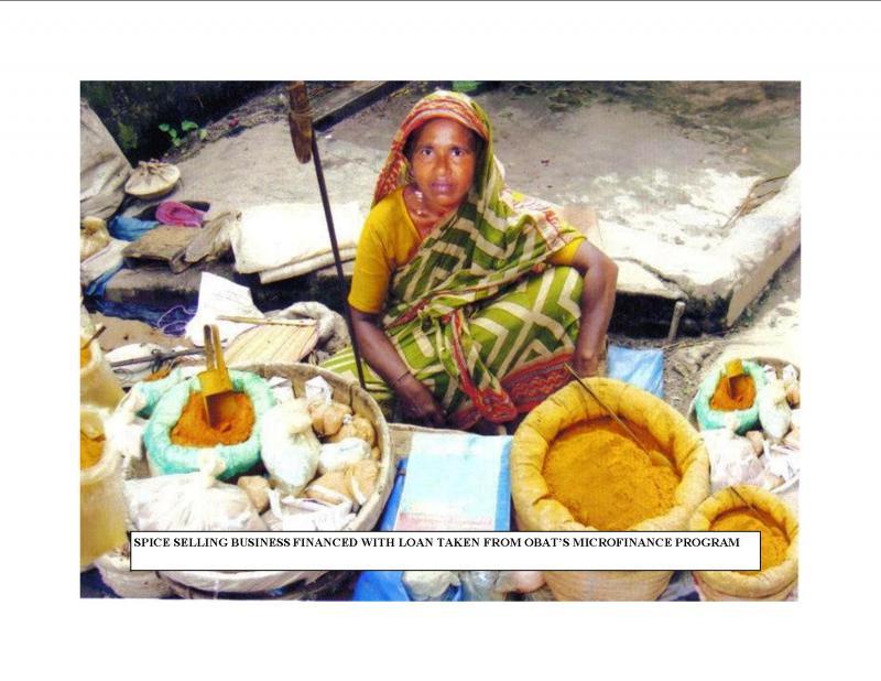 Borrower in microfinance program