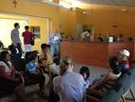 Clinica Verde Board members visit the clinic waiting room.