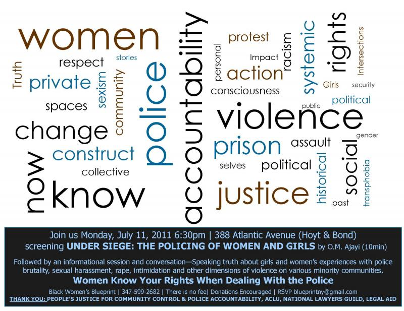 Centering Women's Experiences In The Debate on Police Brutality