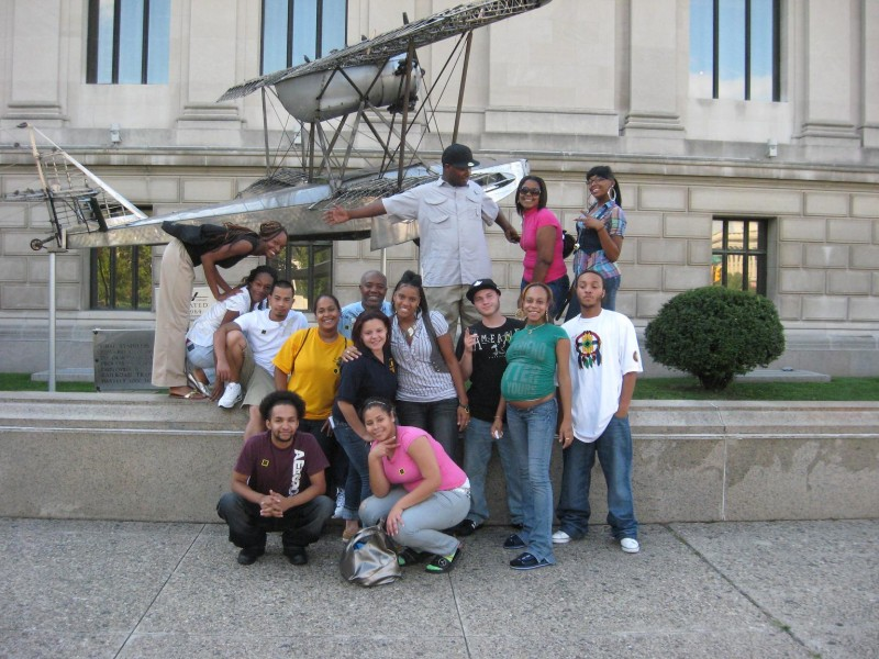 A group of teens visit the Franklin in Philadelphia for fun, hands-on learning.