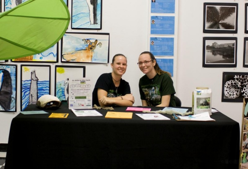 Our staff and volunteers promote the Center at informational outreach booths.