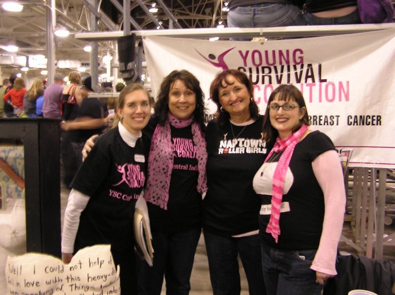 Founder, Judi Grove with the YSC of Indiana receipients of Bout against Breast Cancer proceeds