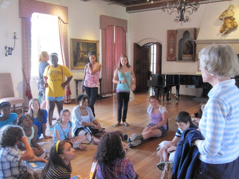 Students on a field trip during 2010's Literary Arts Summer Camp