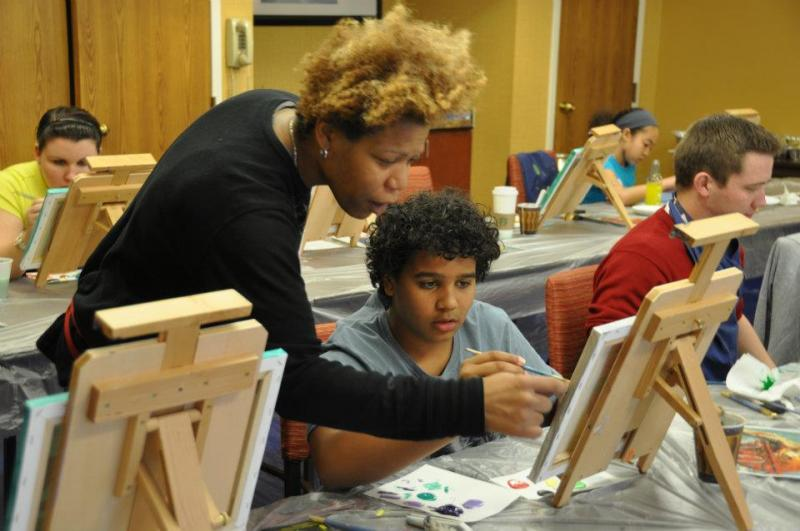 Youth Mentorship Program with Painting in 2011