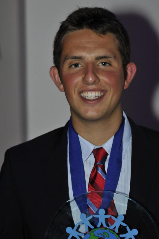 Kyle Weiss, 2012 Youth Award Winner, is building soccer fields for kids in war torn countries