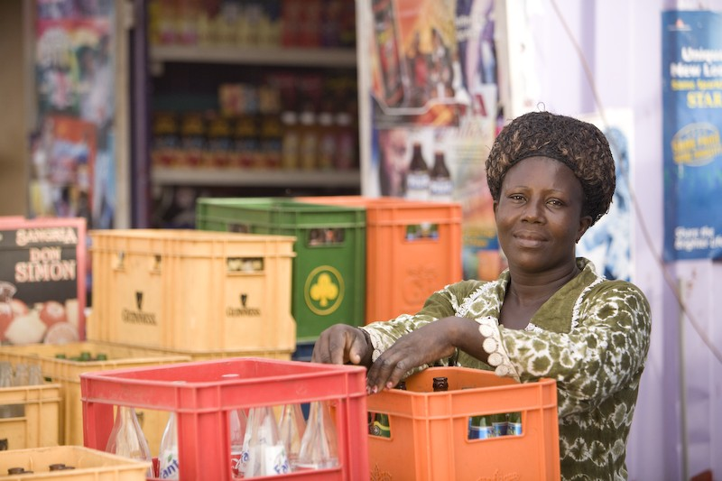Bea, A WomensTrust loan client in her shop