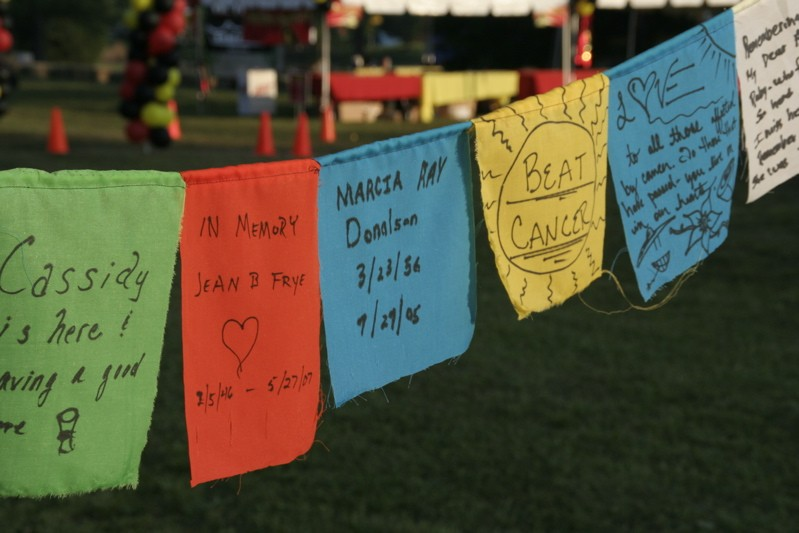 drumSTRONG '08 prayer flags