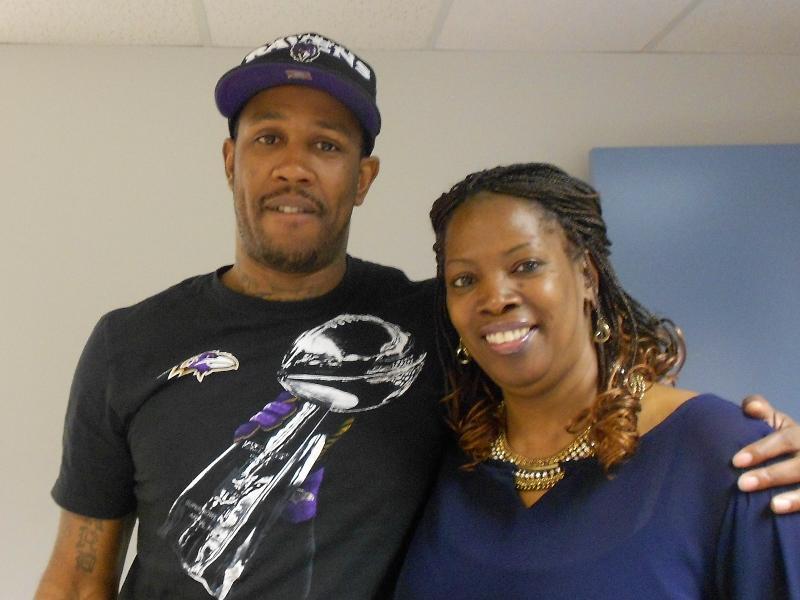 Aaron with his job coach, Sonya