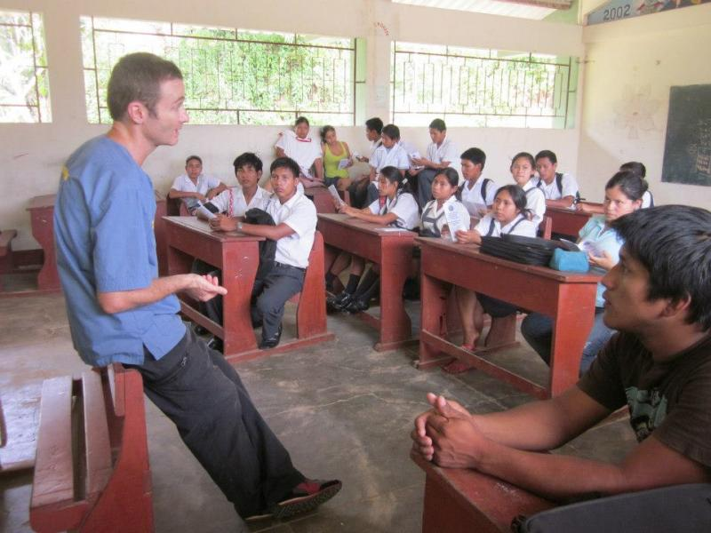 Peru Director Bruno teaching Humane Ed classes.