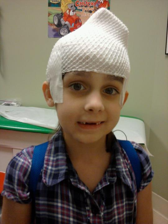 Child having EEG