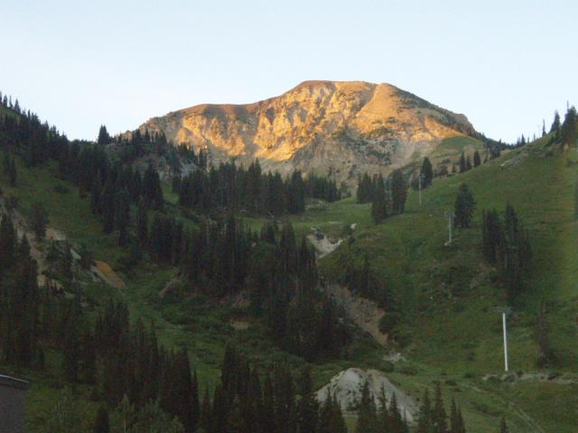 Sunrise in Alta, UT at a Weekend of Recovery