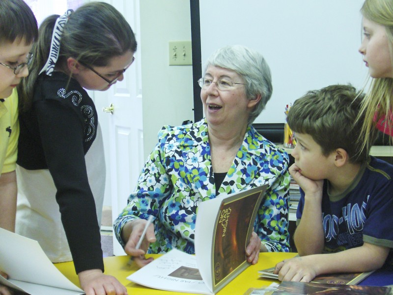 Award0winning children's author Anna Smucker visits our Afterschool program