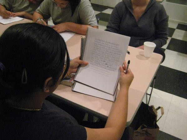Foster girls at Aviva learn Creative Writing