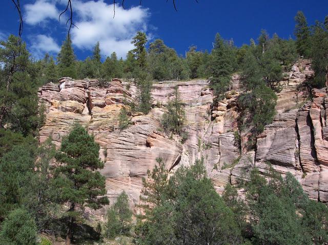 Colorful cliffs near Flagstaff