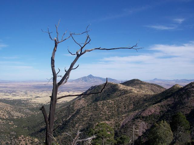 San Jose Peak in Mexico near the southern terminus of