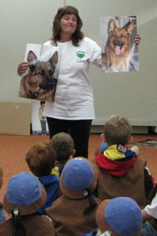Teresa does a Be a Tree presentation for the Beavers