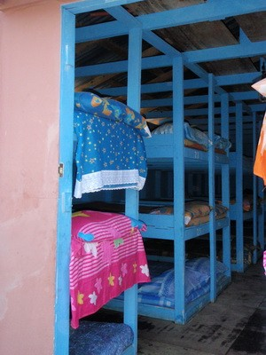 Beds at the new shelter in Haiti built by ICA