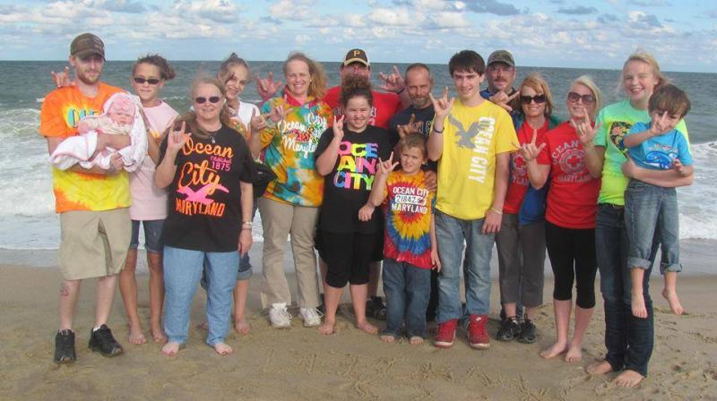 A wish for a beach vacation- wish recipient and family at South Bethany Beach, Delaware