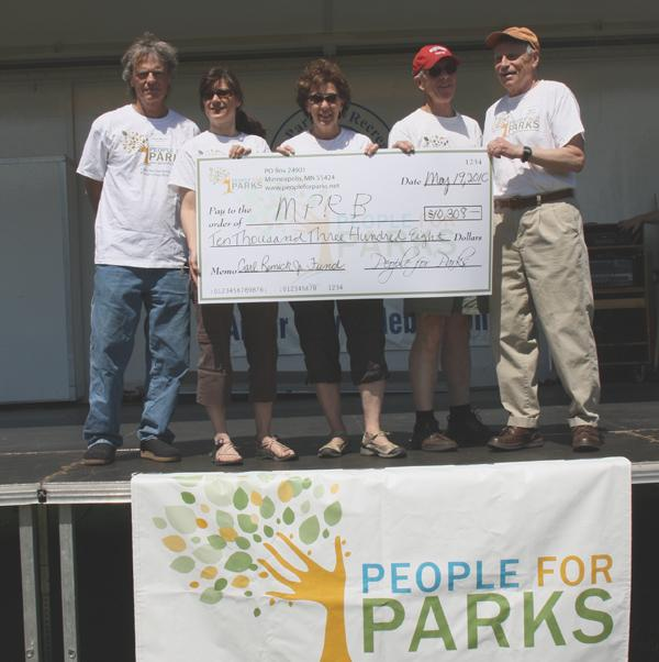 Ten thousand dollar check for Minneapolis parks
