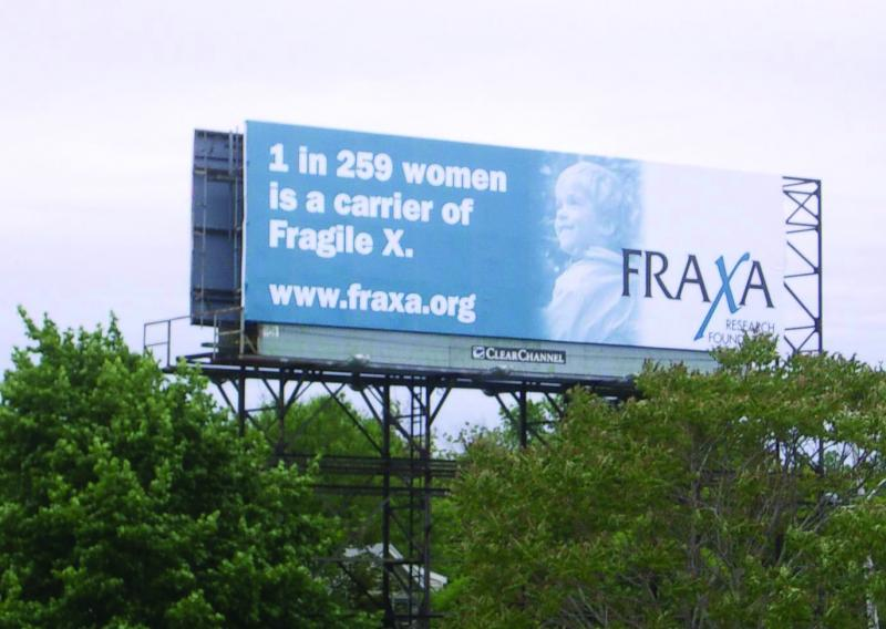 One in 259 women is a carrier of Fragile X Syndrome