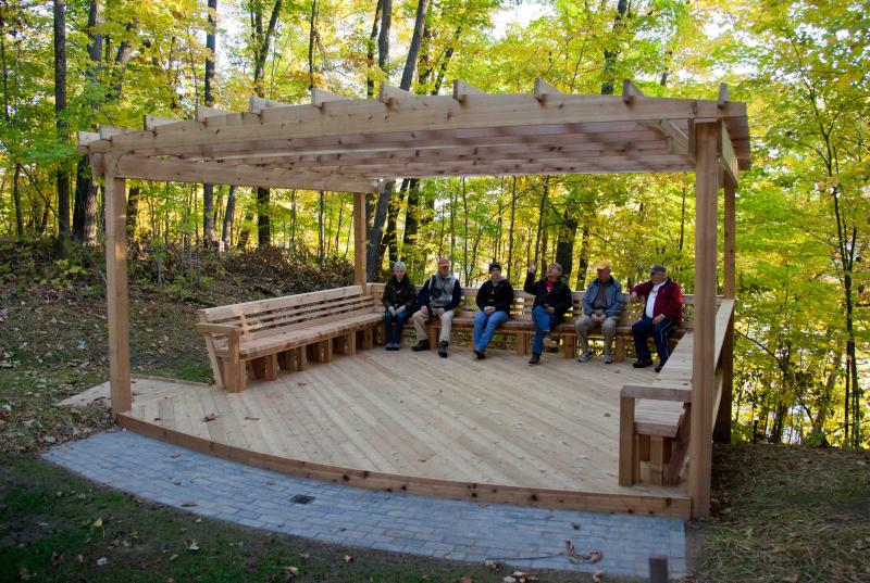 Our new donated cedar deck amphitheater!