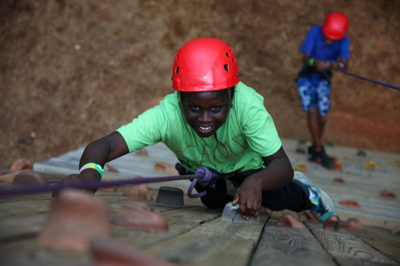 We celebrate our campers as they climb toward their own personal success.