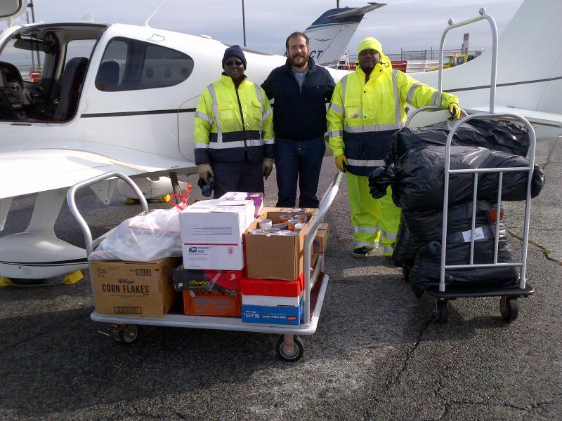 Volunteer PIlot Tony flew in supplies from Illinois to NY after Hurricane Sandy