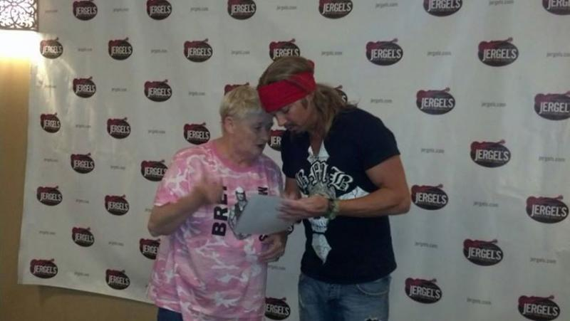 Our wish recipient, Holly, who is fighting multiple myeloma-- Her wish...to meet Bret Michaels and see him in concert!