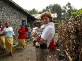 Founder Patricia Shafer in Rwanda