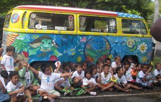 Keiki with the ARTS UPRISING van