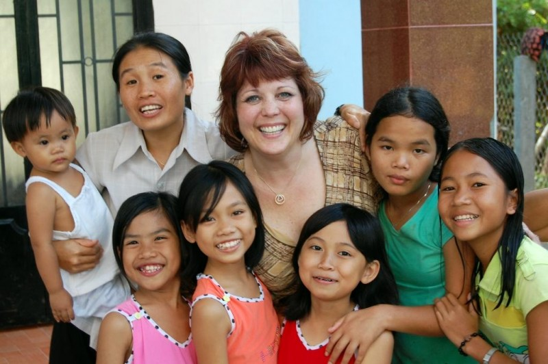 Our Executive Director visiting the House of Love orphanage in Cam Ranh, Vietnam