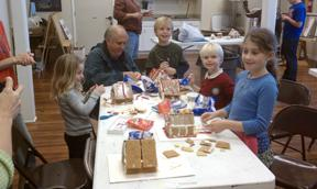 Family Art Workshop - candy houses