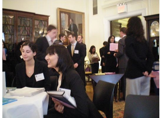 AFJ staff teaching young lawyers at the Georgetown Law Career Fair