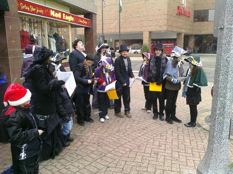 AECT Youth Caroling in the Community