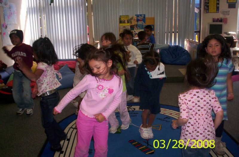 Students in the Child Development Center are free to play and learn.