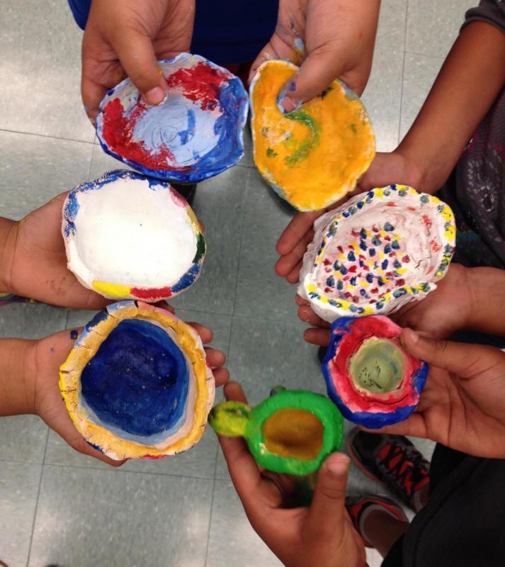 Hand Built clay pots.