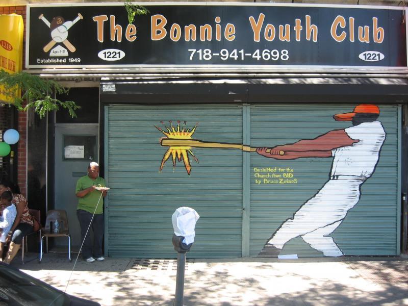 The Bonnie Youth Club clubhouse on Church Avenue, Brooklyn, NY