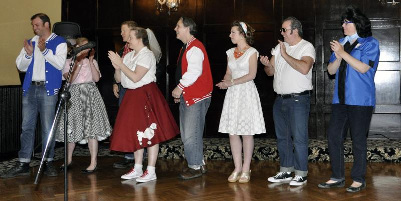A sample of the fun from our 50's Sock Hop Fund Raiser.