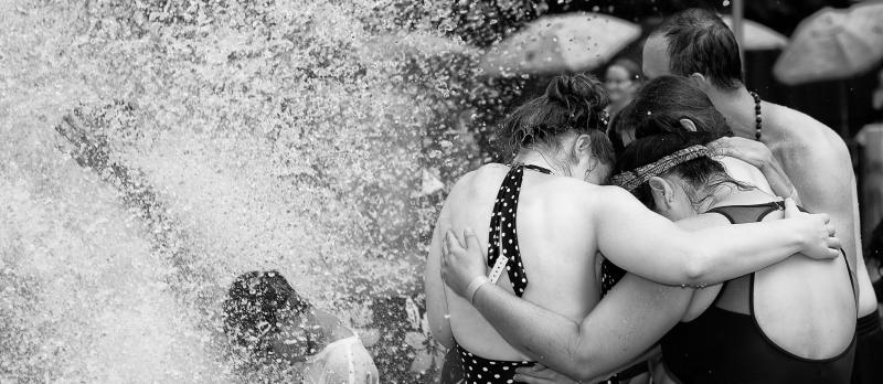 L'Arche community members gathering at a water park. Brian A. Taylor Photography.