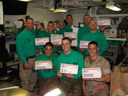 Sailors Receive Care Packages