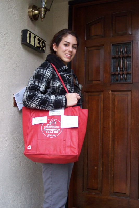 Delivery of Meals on Wheels West / American Red Cross of Santa Monica Emergency Food Bag