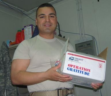 Marine Receives Care Package
