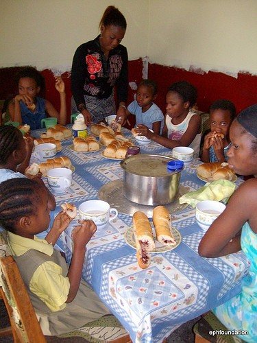 Dinner time at the Orphanage